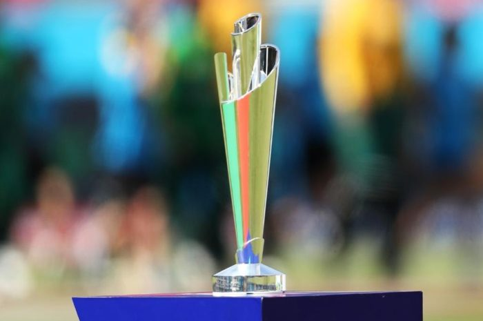 The cricket T20 World Cup Trophy
